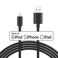Apple MFI Braided Nylon Lightning Cable 10 ft